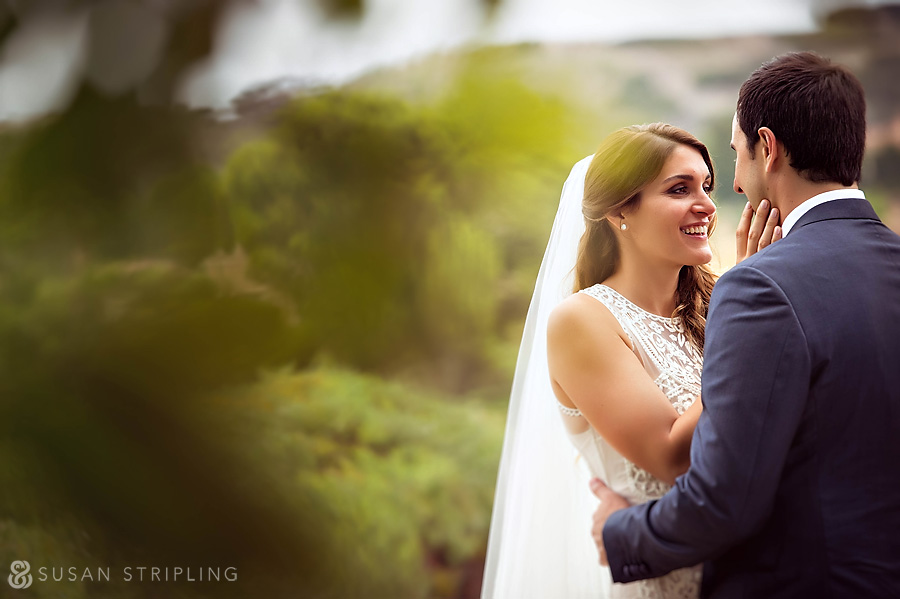 Bride and Groom at Pelican Hill