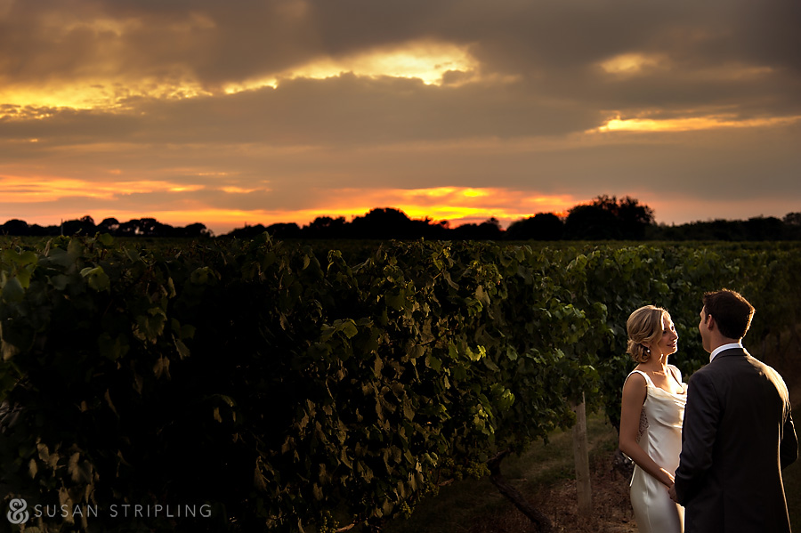 Wedding Party at Bedell Cellars
