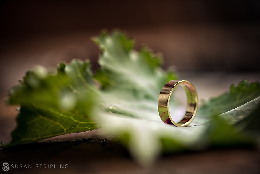 Creative picture of men's wedding ring
