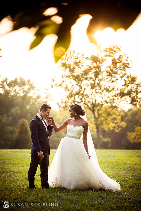 Graceful wedding portrait