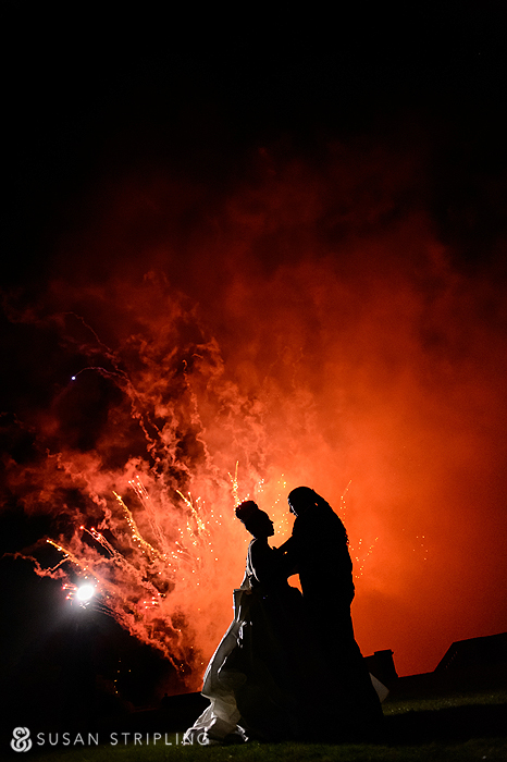 Oheka Castle wedding fireworks