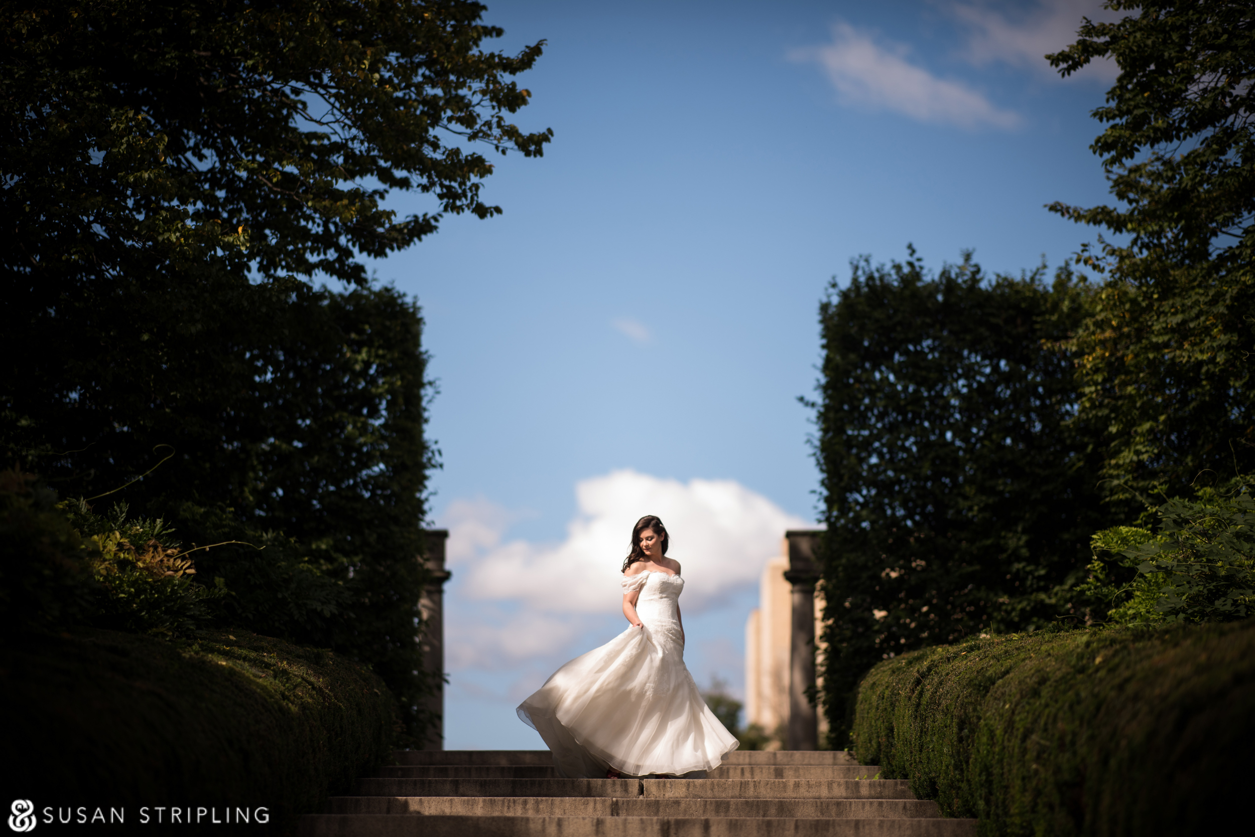 brooklyn botanic wedding fall