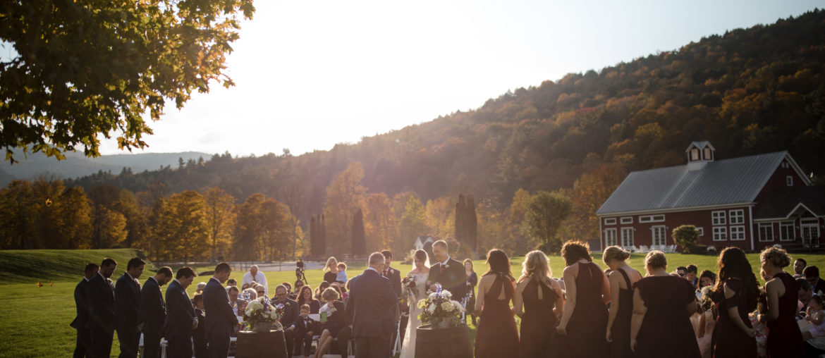 fall wedding vermont